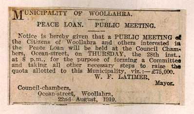 Peace loan