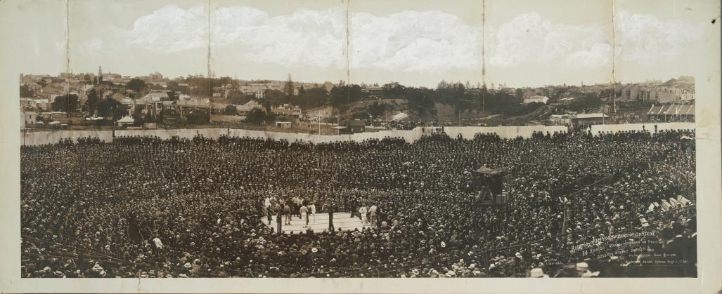 Burns-Johnson Boxing Contest, Rushcutters Bay