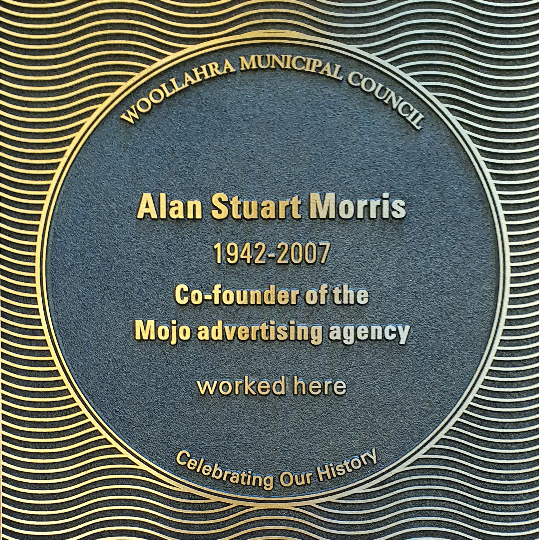 Alan Stuart Morris plaque
