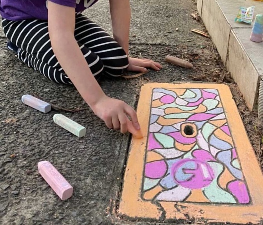 Paddo Lockdown Art - street chalk