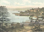 Postcard of Rushcutters Bay, early 20th century