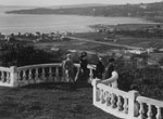 Terrace overlooking Rose Bay, c1910