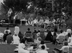 Margaret Whitlam at the Poets' Picnic, Blackburn Gardens, 1990