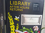 Double Bay Library after hours returns chute