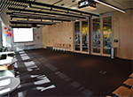 Event Space A and B combined on Level 1 - perimeter setting facing projector screen B