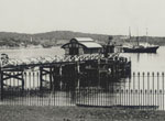 Ferry arriving at Watsons Bay wharf, c1905